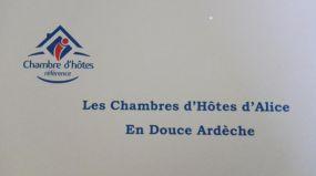 Les Chambres d'Hôtes d'Alice