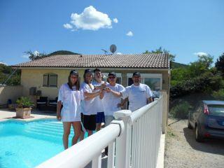 L'équipe Franco-Belge  2014 à la piscine