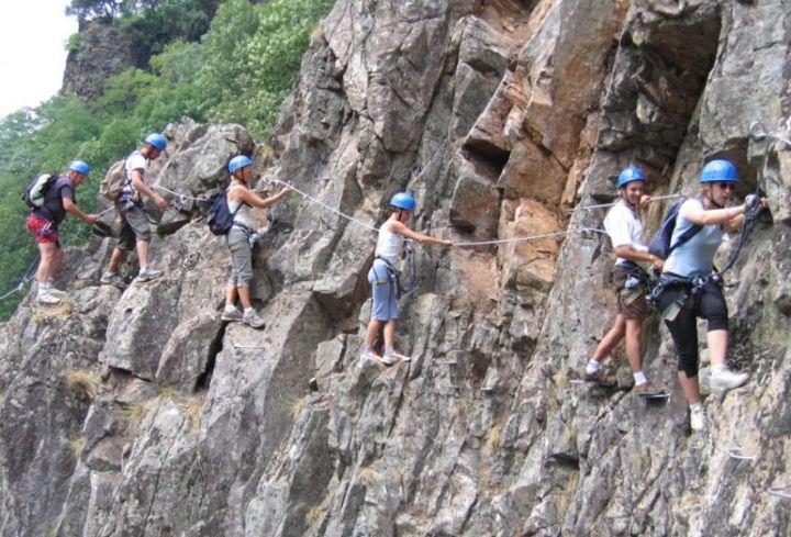 Via Ferrata in the Ardeche Gorges