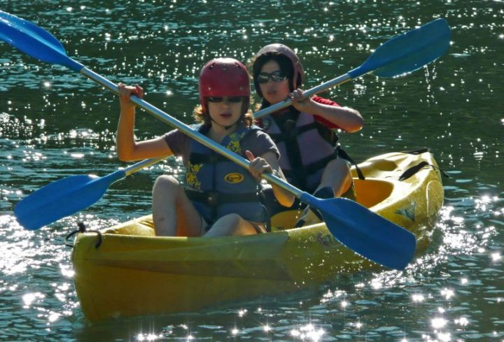 Canoeing in the Ardeche Gorges from 7 years