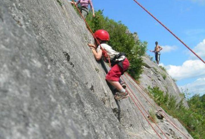 Escalade dans les Gorges de l'Ardèche