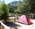 Emplacement pour tentes au camping