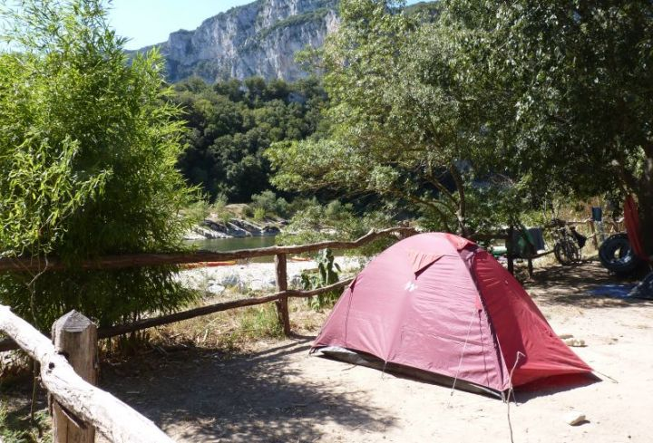 Pitch for tents at the campsite