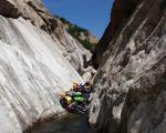 canyon du haut  chassezac passage de la rajolle