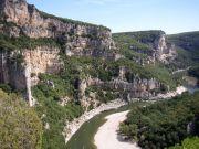 Vue dans les Gorges de l'Ardèche