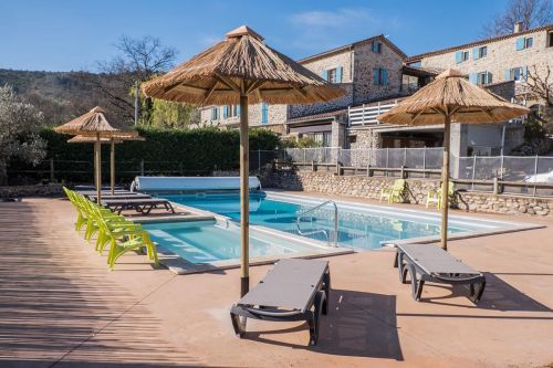 Group S/C Home 14 people (pool and riverside) - Joyeuse