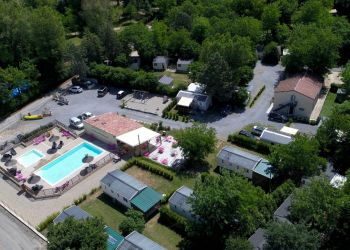 Aerial view of Camping le Coin Charmant