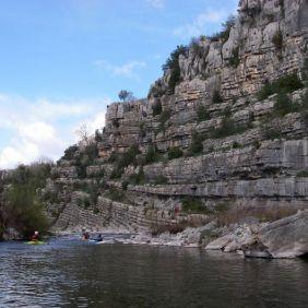 Canoë sur La Beaume